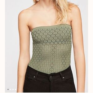 Free People Honey Textured Tube Top